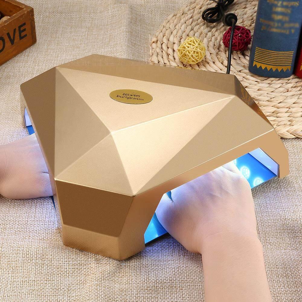 60W Manicure Tool LED / UV Double Hole Dual Light Source Nail Gel Lamp