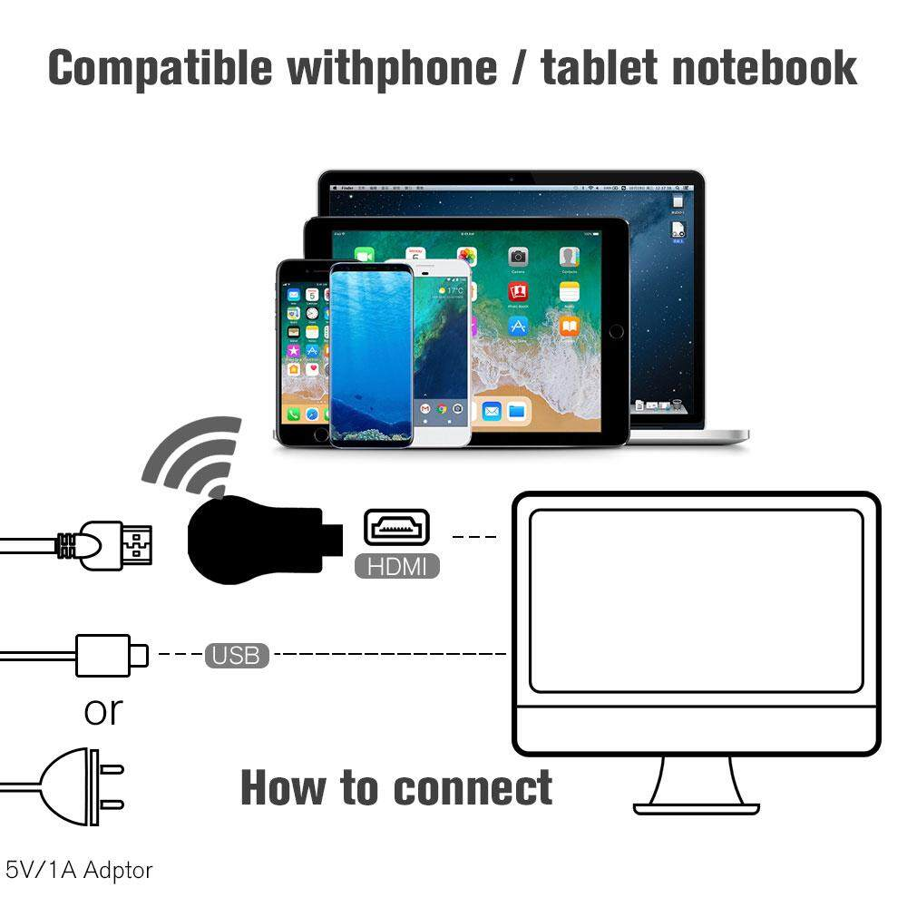 New Original Anycast M9 PLUS 1080p Wireless WiFi display Chrome Airplay  Miracast DLNA TV Dongle HDMI Support Google Home