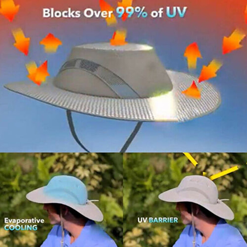 Evaporative Cooling Bucket Hat Arctic Hat UV Protection Sunscreen Cooling Summer