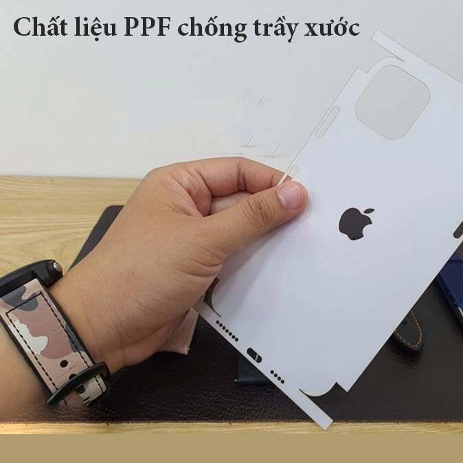 Miếng dán dẻo Nhám PPF Full mặt lưng và viền mỏng 0.1mm cho iPhone 11 - 11 Pro - 11 Pro Max hiệu HOTCASE
