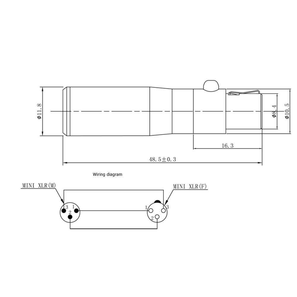 Mini Xlr 3 Pin Male To Mini Xlr 4 Pin Female Audio Metal Connector Adapter Lazada Ph