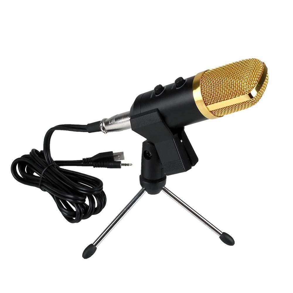 BM-100FX 100FX Radio BroadcastWired Recording Microphone with Stand for Chatting Singing Karaoke PC Laptop Skype Recording