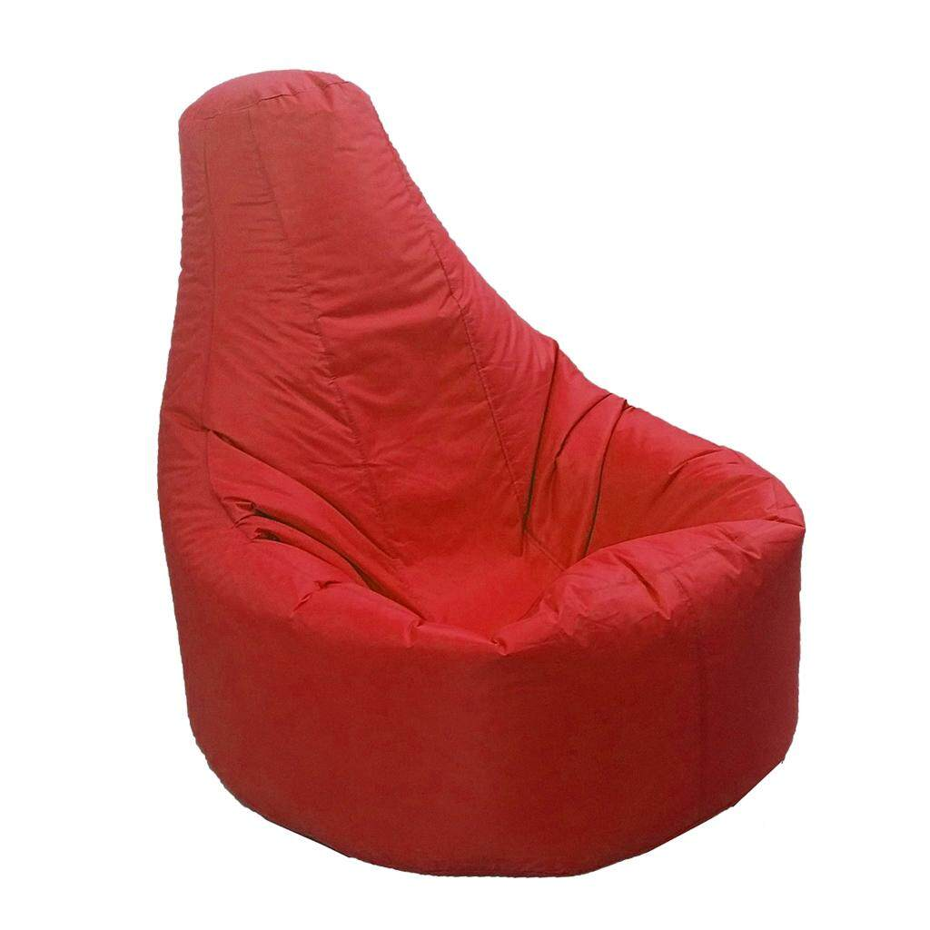 Perfk 2Piece XXL Recliner Gaming Beanbag Chair Cover Adult Seat Pod Bag Red