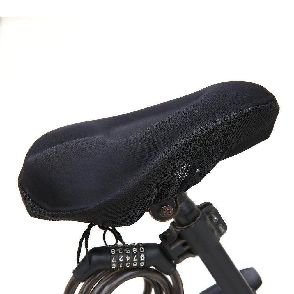 Bike Bicycle Cycle Extra Comfort 3D Soft Pad Cushion Cover for Saddle Seat Comfy