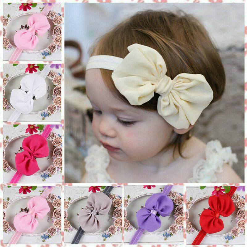 Cap Knot  Baby Girl Hair Band Headwear Bowknot Turban Nylon Elastic Headband
