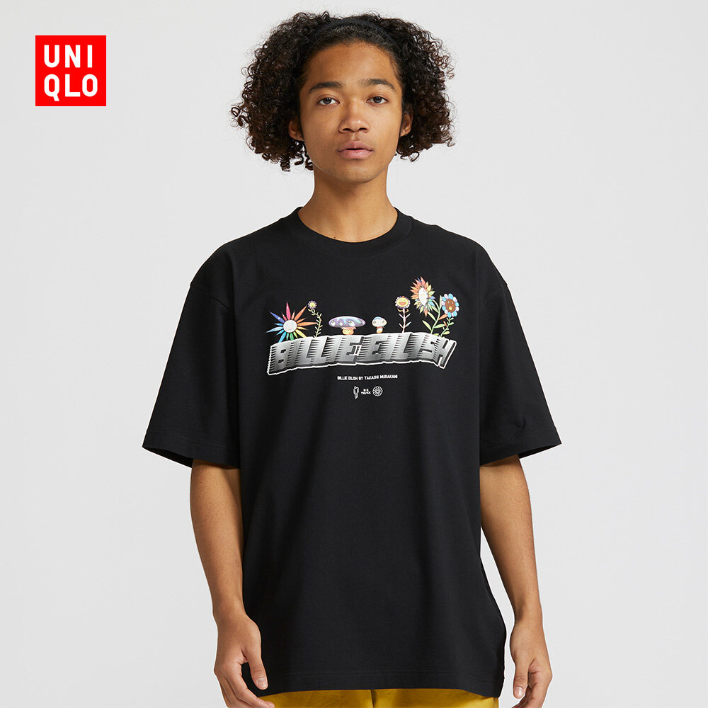 Men S Ut Be X Tm Printed T Shirt Billie Eilish Short Sleeve Uniqlo Lazada Ph