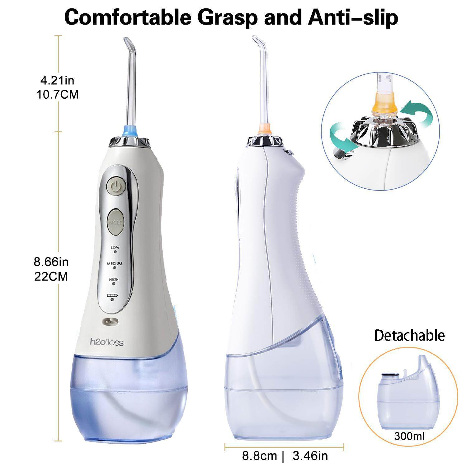 H2ofloss HF - 5 Portable Home Electric Water Flosser