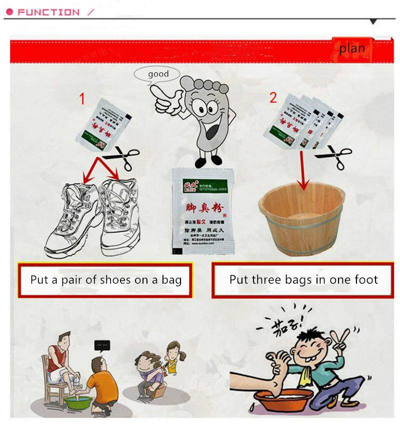 UNIKEE Shoe Removes Foot Odor Shoe Odor Removes Sweat Deodorizes Foot  Removes Foot Odor Powder Foot Odor
