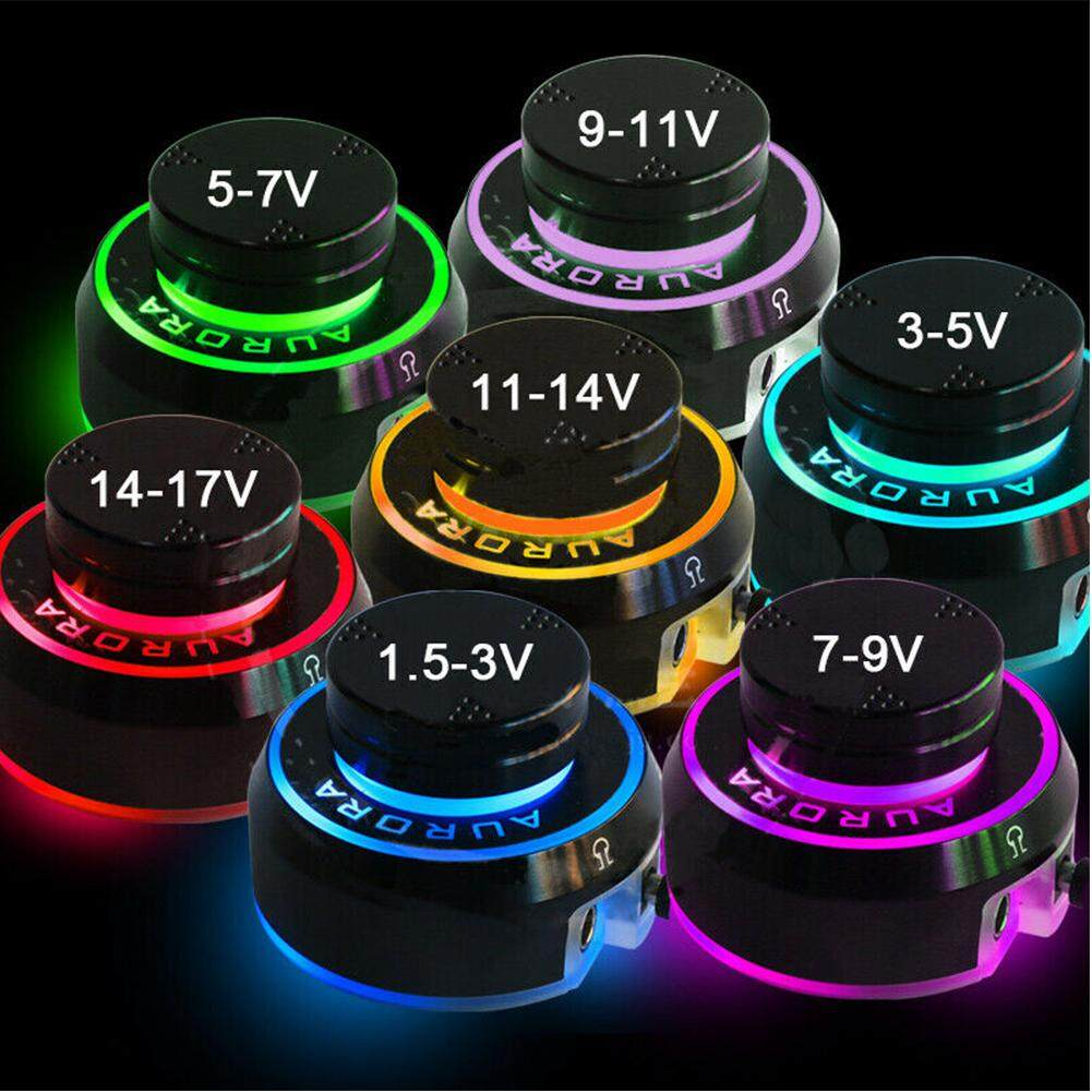 Color Changing Coil Rotary Accessories Push Start LCD Round Knob Control  Tattoo Power Supply
