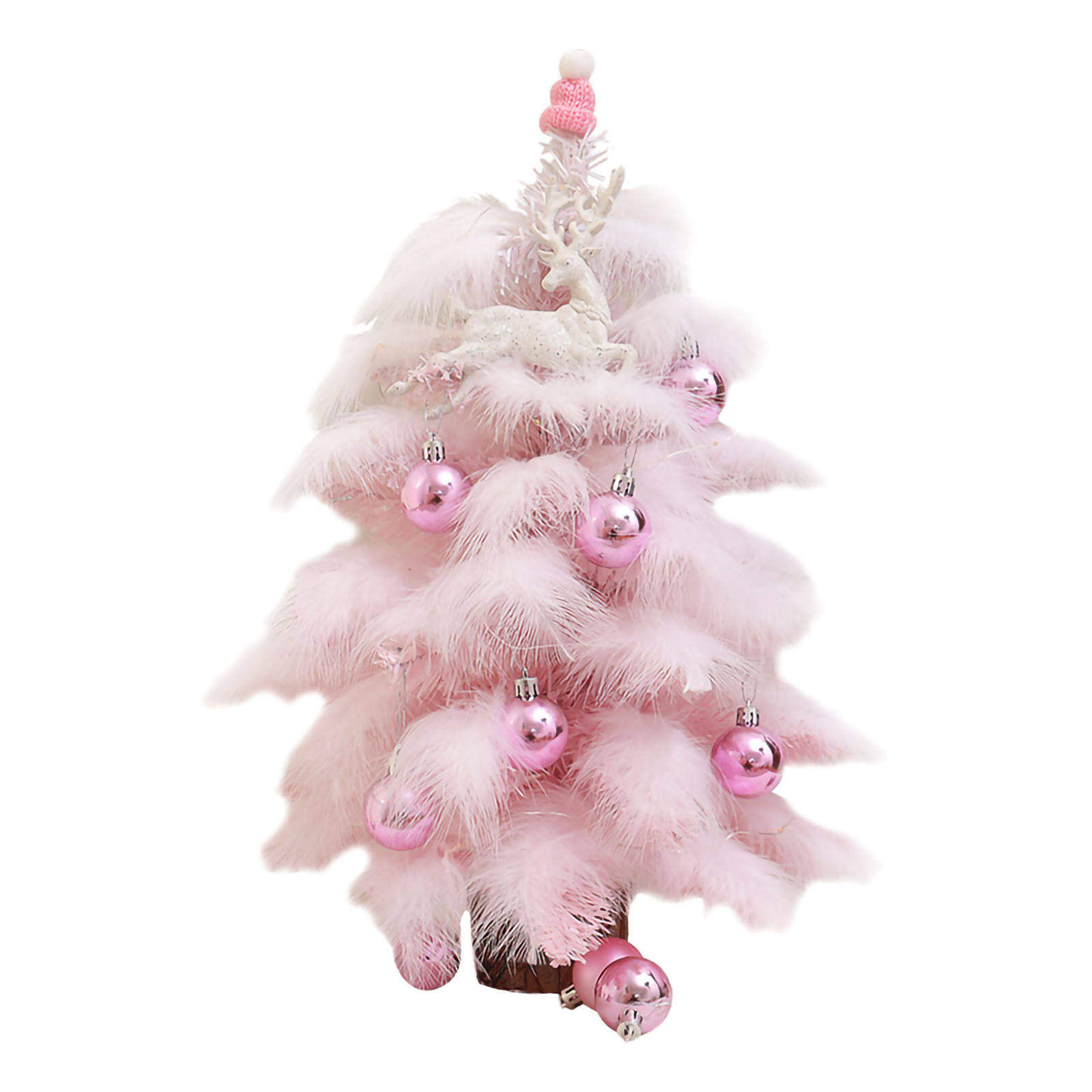 Pink Christmas Tree 45 60cm Package Gift Pink Mini Desktop Decoration Lazada Ph