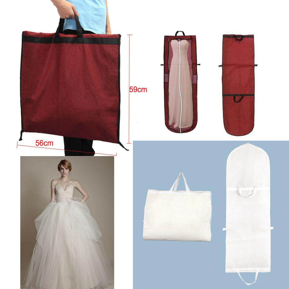 good service long dress cover storage bag for bridesmaid bridal wedding  gown dress carrier