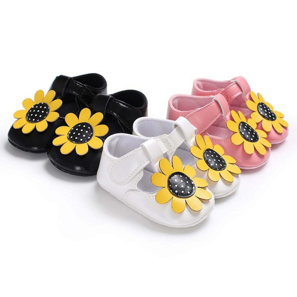 122d7132f3a33f Product details of Perfect Meet Kids Baby Girls boy shoes Toddler Girl  Sunflower Flower Leopard Newborn Anti-slip Baby Shoes