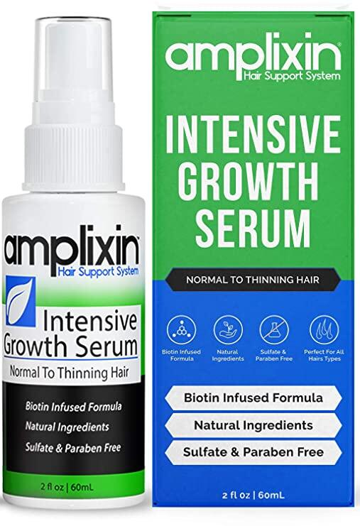Amplixin Intensive Biotin Hair Growth Serum - Hair Loss Prevention Treatment For Men Women With Thinning Hair - Sulfate-Free Dht Blocker For Receding Hairline Pattern Baldness 2Oz