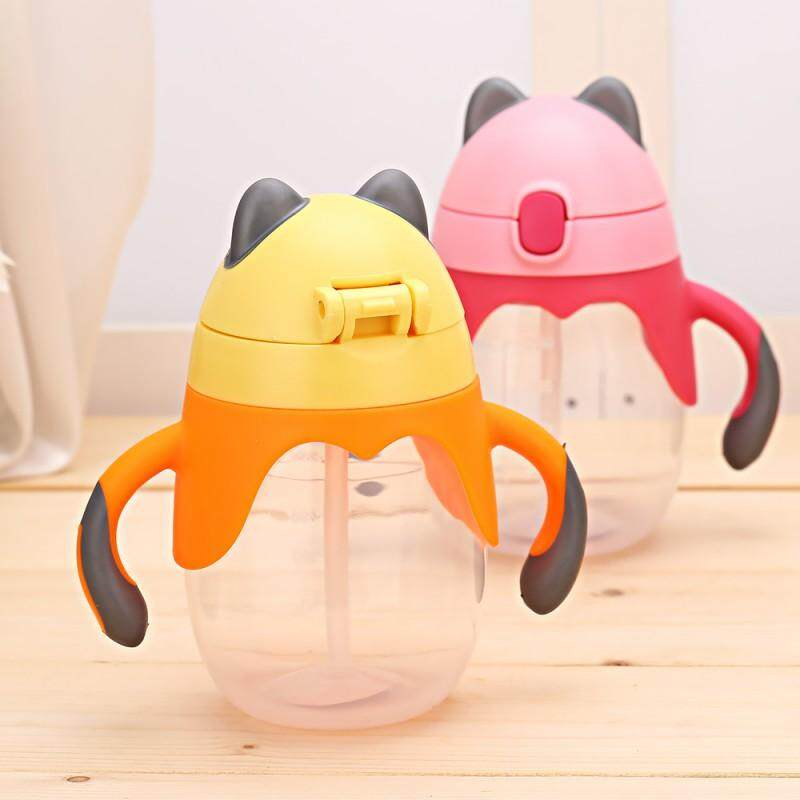250ml Portable Kid Baby Sippy Cup Training Straw Water Milk Learn Drinking  Bottle Handle Bottle Training Cup