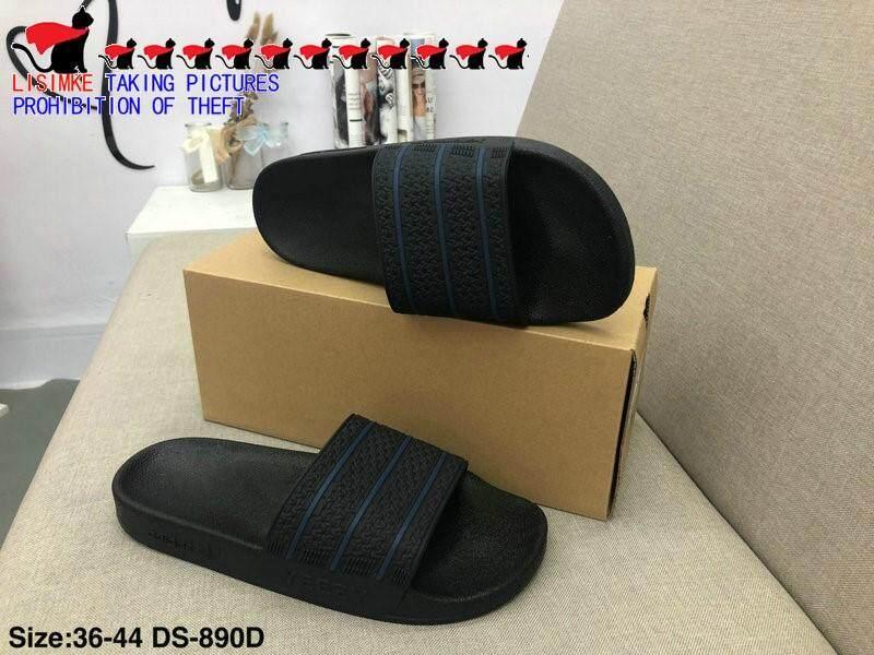 LISIMKE 2017 New Mens Summer Slipper Sandals Shoes-44 Black