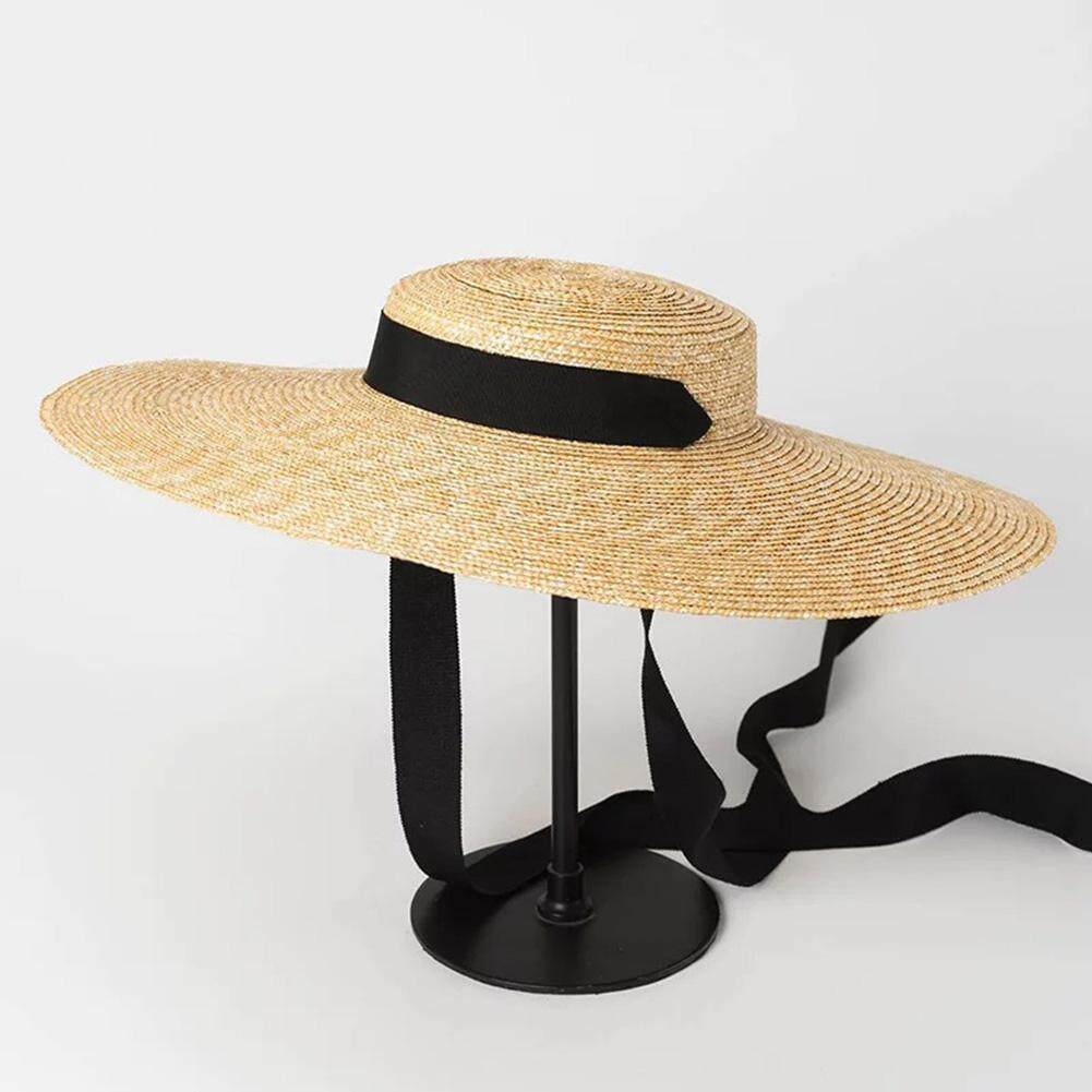 58b89d82 Specifications of Summer Floppy Straw Hat Women Big Wide Brim Ribbon Sun  Hats Ladies Foldable Panama Beach Hat
