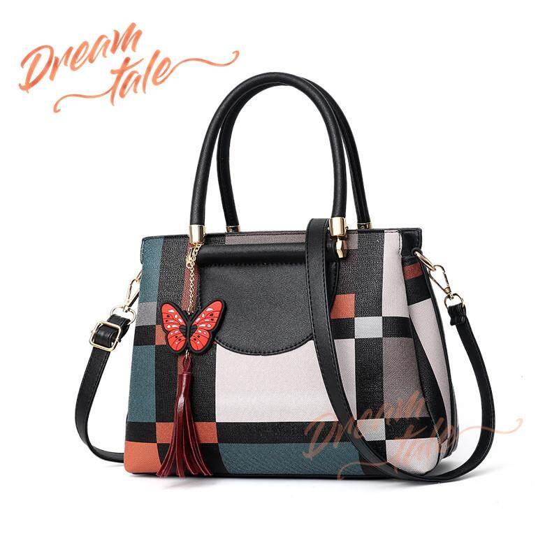 c9dec5348c61 Dreamtale Women Handbag Butterfly Tassel Keychain Block Print Top Handle  Bag WFS125