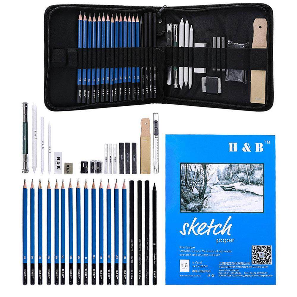 14x Set Drawing Sketch Pencils Charcoal Pencil  Art Craft Painting-Gift