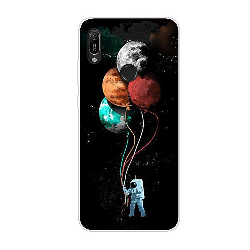 Coque For Huawei Y6 2019 Phone Case Cover Huawei Y6 Y 6 2019 Silicone Soft  TPU Black Bumper Huawei Y6 Prime 2019 Back Protector