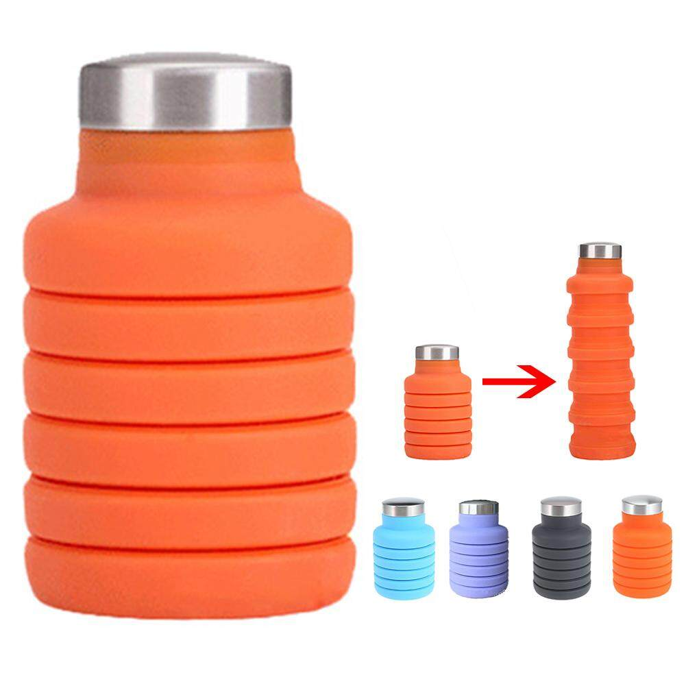 Outdoor Sport Retractable Collapsible Travel Cup Folding Silicone Water Bottle