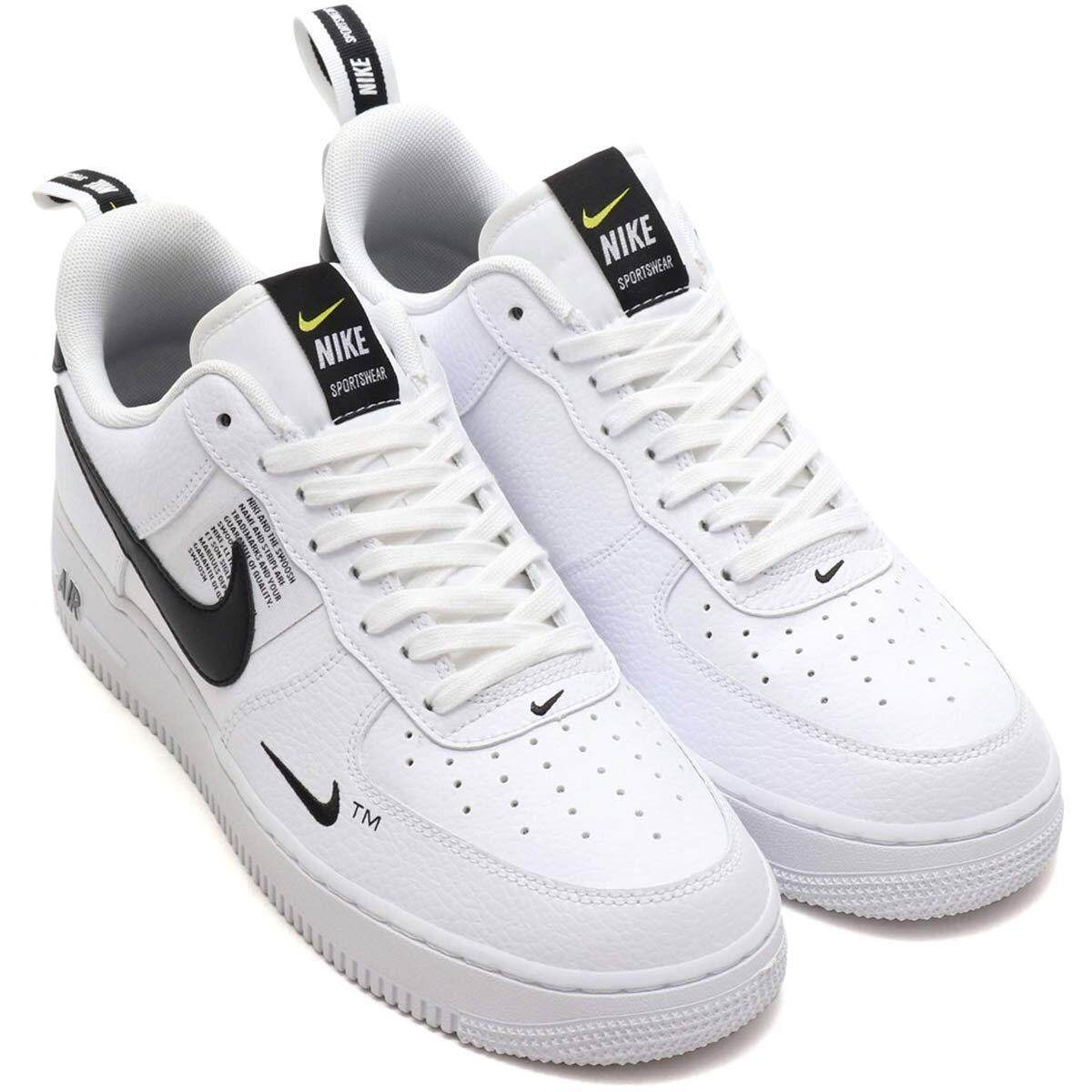 Classic Casual Shoes White Black Low N I K E Air Force One Air Force 1 07 Lv8 Utility Lace Aj7747 100 Overseas Direct Mail Dc0100