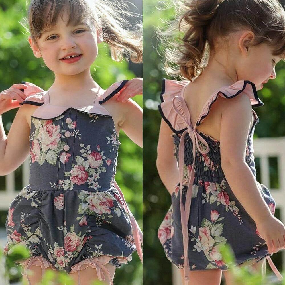 Summer Toddler Kids Girls Ruffle Romper Bodysuit Jumpsuit Outfit Clothes Sunsuit