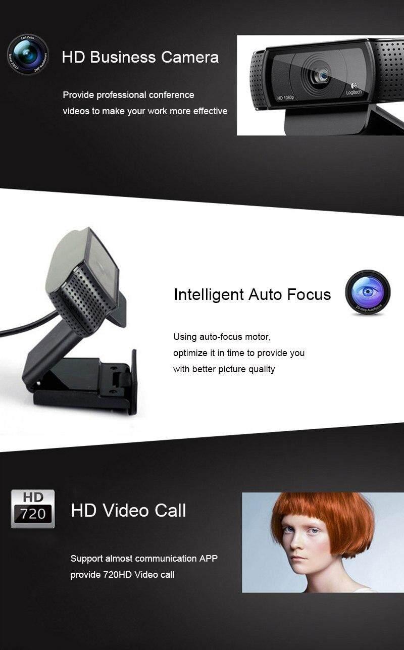Original Logitech C920E With Free Tripod Webcam 1080P Built-in Microphone  Laptop Camera