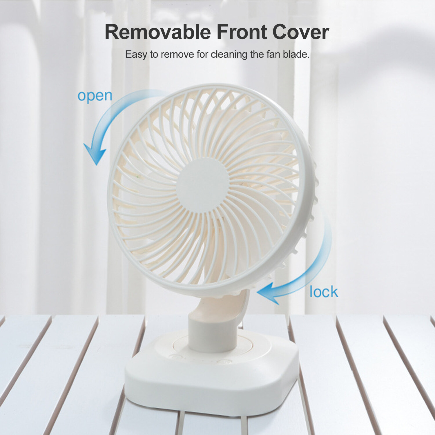 USB Table Desk Personal Fan Rabbit Handheld Electric Fan Mini Portable USB Charging for Office Dormitory Travel for Home Office Table Color : Gray, Size : One Size