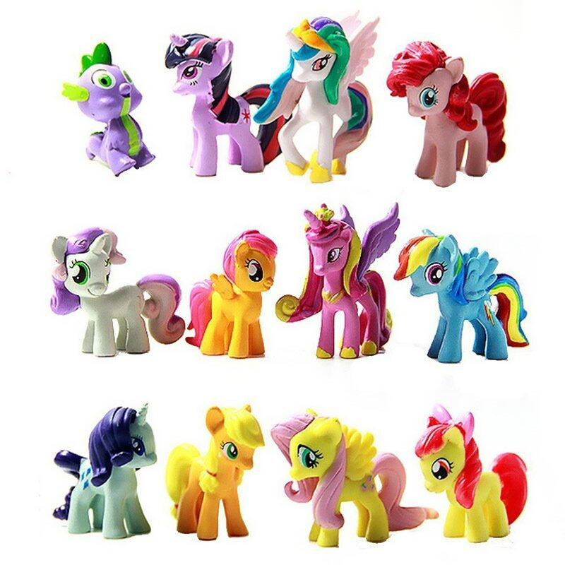Yika 12 Pcs Set My Little Pony Cake Toppers Cupcake Toys ...