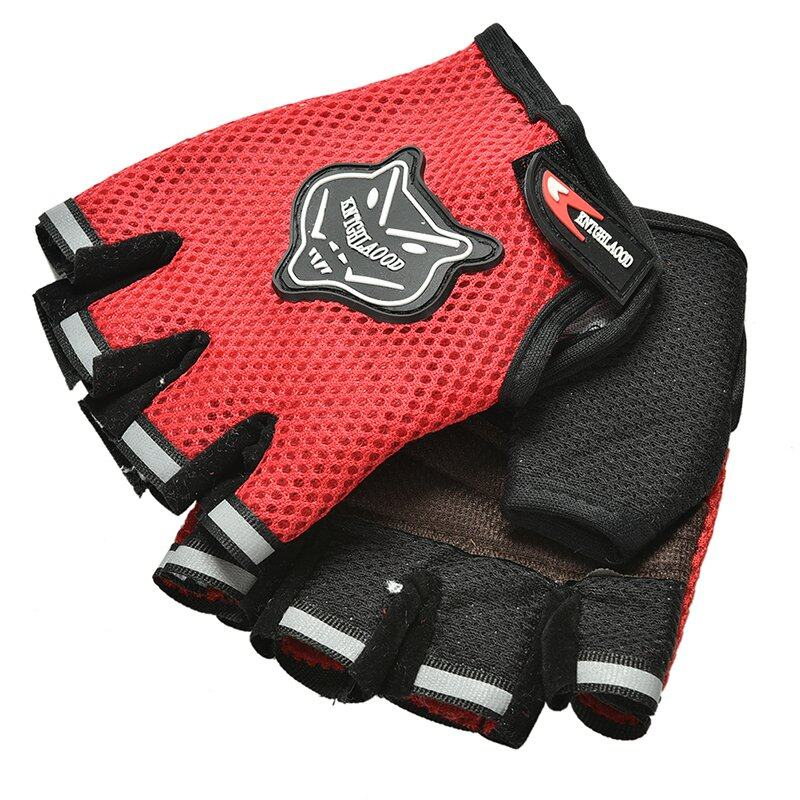 Amango Unisex Body Building Fitness Gloves Exercise Weight Lifting Red