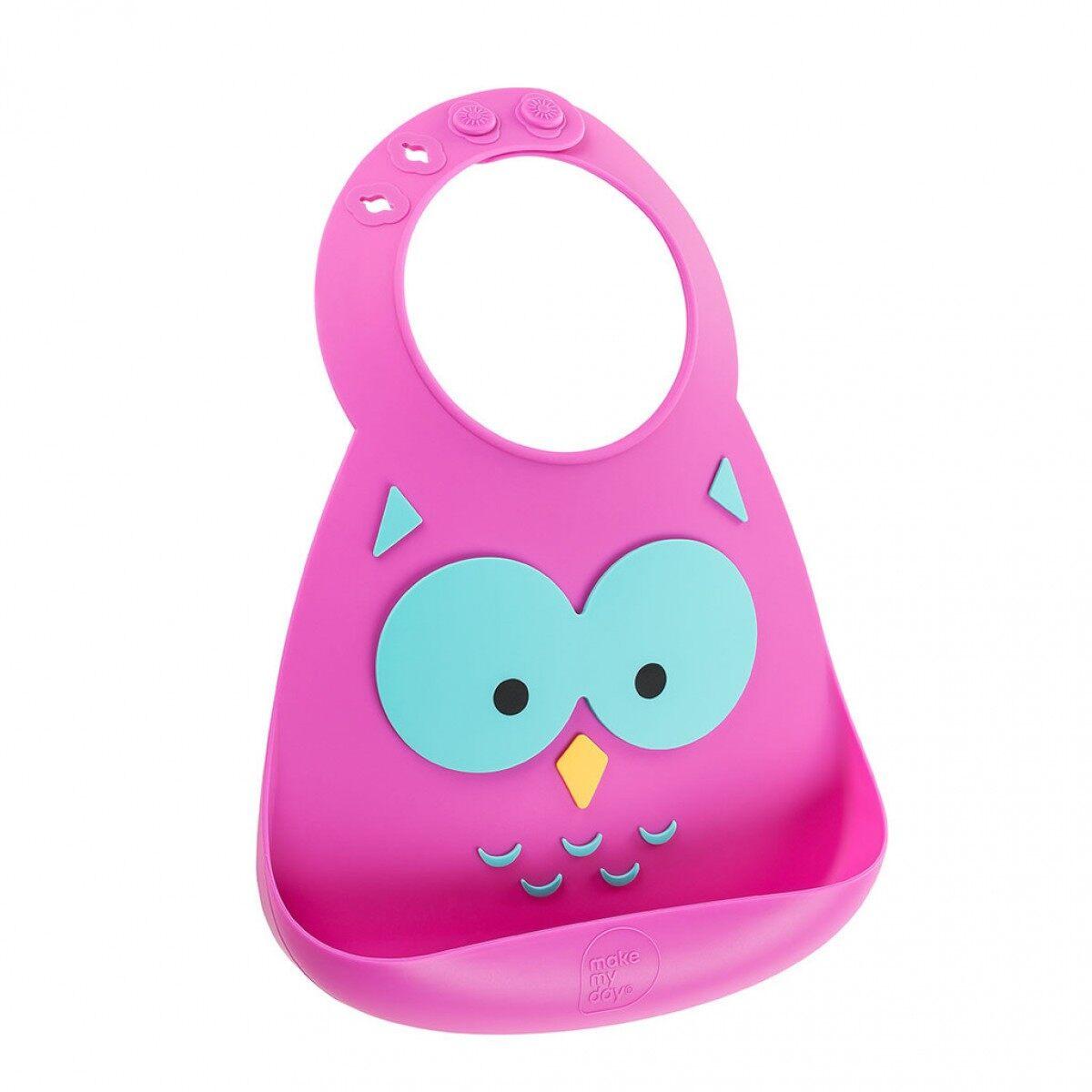 Make My Day Baby Bib Owl