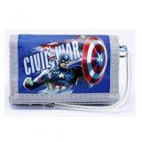 Marvel Avengers Captain America Civil War 3 Folded Wallet - Blue Colour