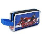 Marvel Avengers Captain America Civil War Single Zipper Pencil Case - Blue Colour