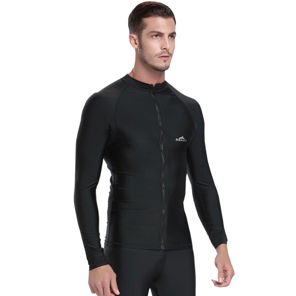 Pakaian Renang Pria Yang Menutup Seluruh Badan Yang Can Be Used Menyelam Snorkeling Surfing (hitam) - 4