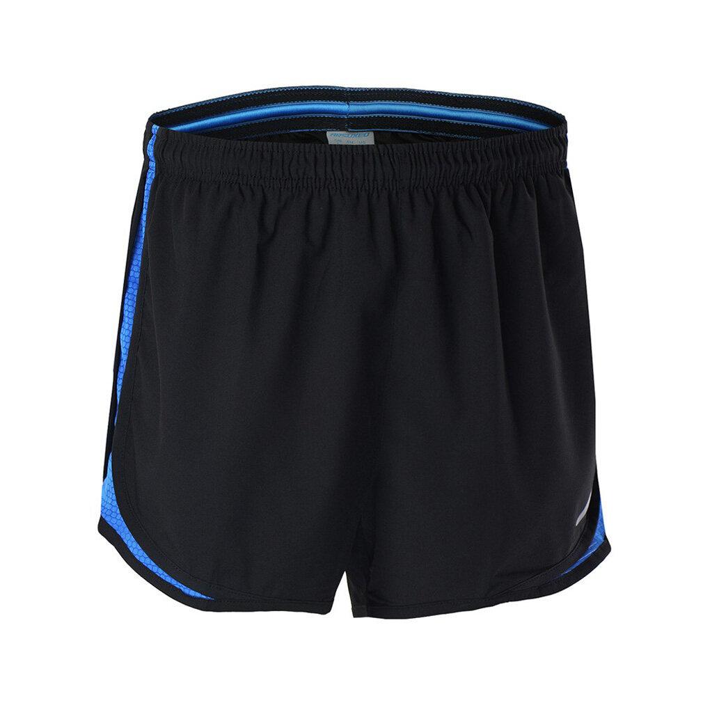 Pria Olahraga Kebugaran Pelatihan Celana Jogging Pants Bang Pendek Lari Cepat Kering Jahat-hitam Biru