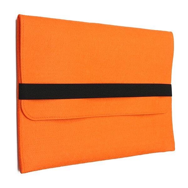 Cuci Gudang Alami Wool Felt Sleeve Case Cover Bag Untuk Apple Macbook Laptop 13 Inch Orange