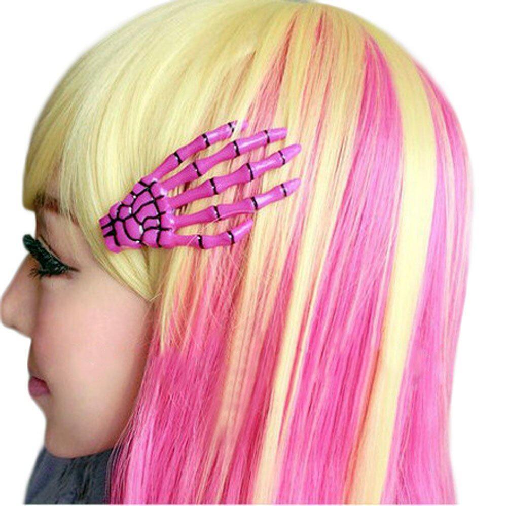 Jiangyuyan Fashion Punk Rock Devil Skeleton Hand Claw Hair Clips Purple 1pc Intl Lazada