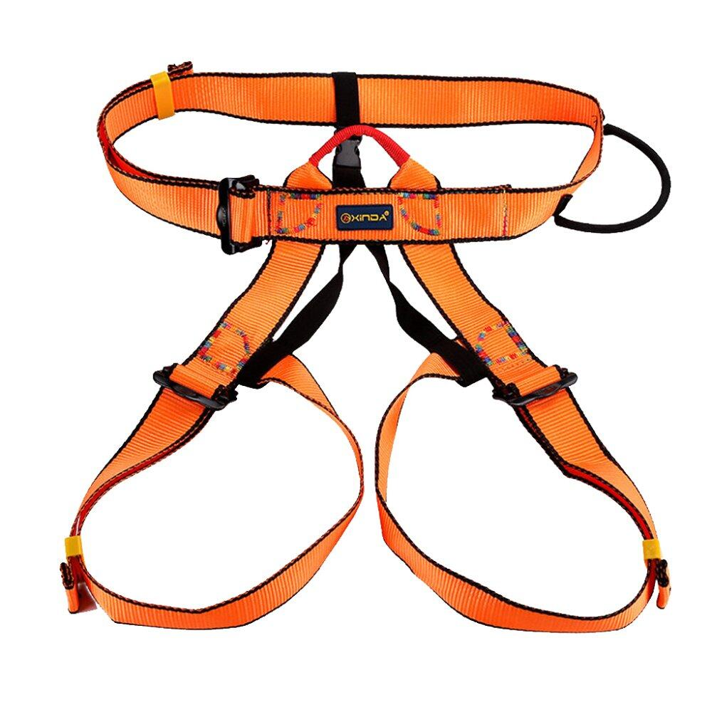Giá Bán Outdoor Rock Climbing Rappelling Safety Belt Harness Orange Intl Nguyên Bolehdeals