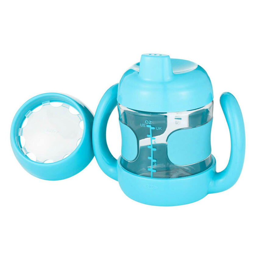 OXO Tot Sippy Cup Set (7 oz. w/ Training Lid) Aqua