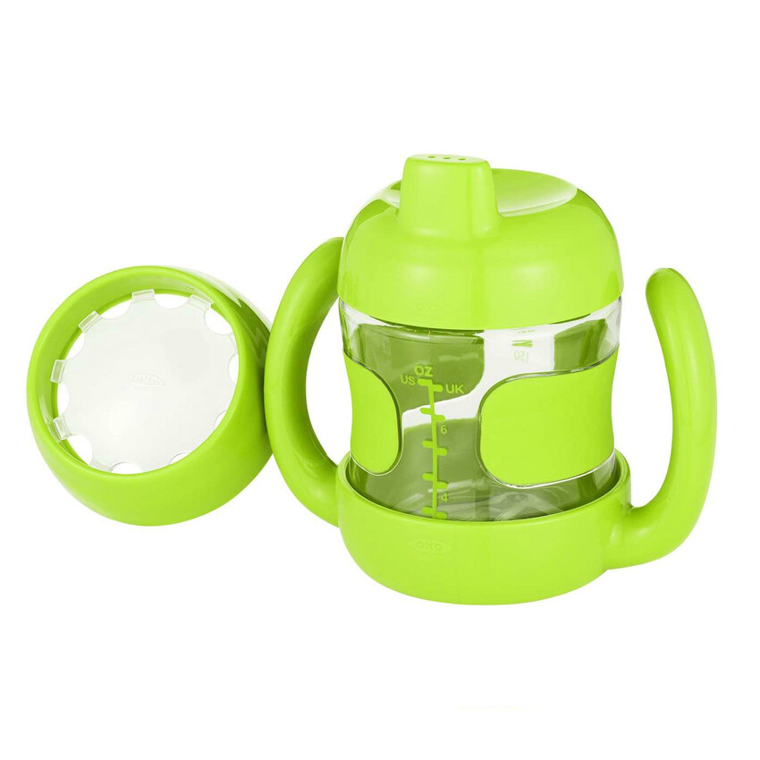 OXO Tot Sippy Cup Set (7 oz. w/ Training Lid) Green
