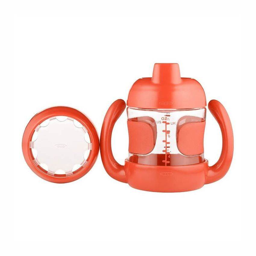 OXO Tot Sippy Cup Set (7 oz. w/ Training Lid) Orange
