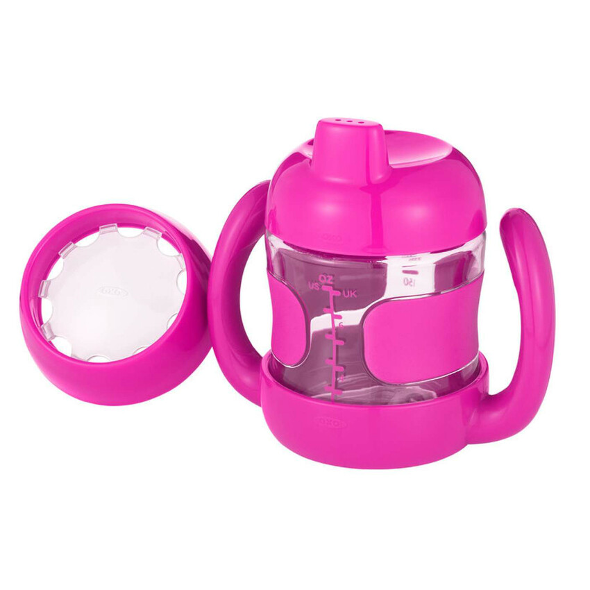 OXO Tot Sippy Cup Set (7 oz. w/ Training Lid) Pink