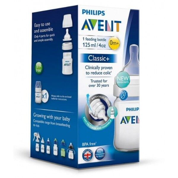 Philips Avent Classic Feeding Bottle 4oz/125ml Single Pack