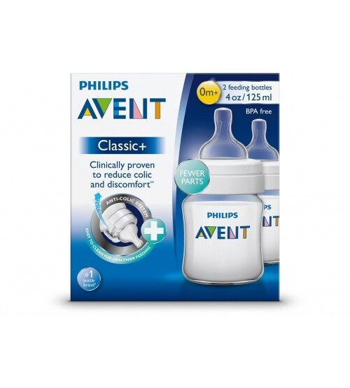 Philips Avent Classic Plus Anti Colic 125ml/4oz Twin Pack