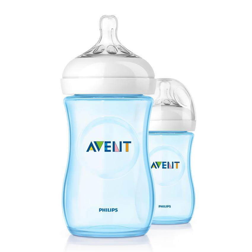 Philips Avent Natural Blue Bottle 9oz / 260ml Twin Pack
