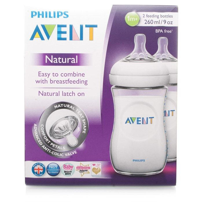 Philips Avent Natural Bottle 260ml/9oz Twin Pack SCF693/27