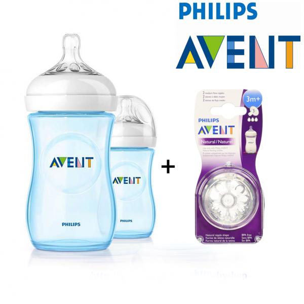 Philips Avent Natural Medium Flow Teat 3m+ (3 Hole)