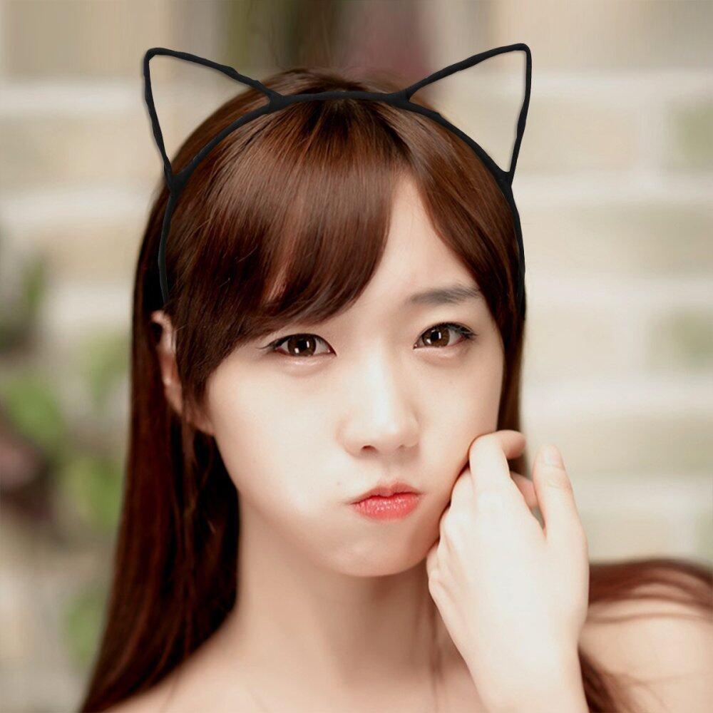 Hình ảnh PIXNOR Đáng Yêu Lạ Mắt Đầm Trang Phục Đảng Tai Mèo Có Dây Đeo Đầu (Đen) (Quốc Tế)-Quốc Tế