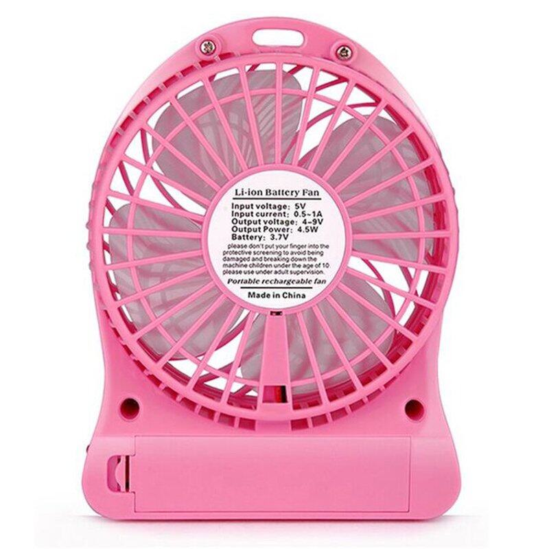 Pink Electric Fan : Leaf brand usb rechargeable speed adjustable mini
