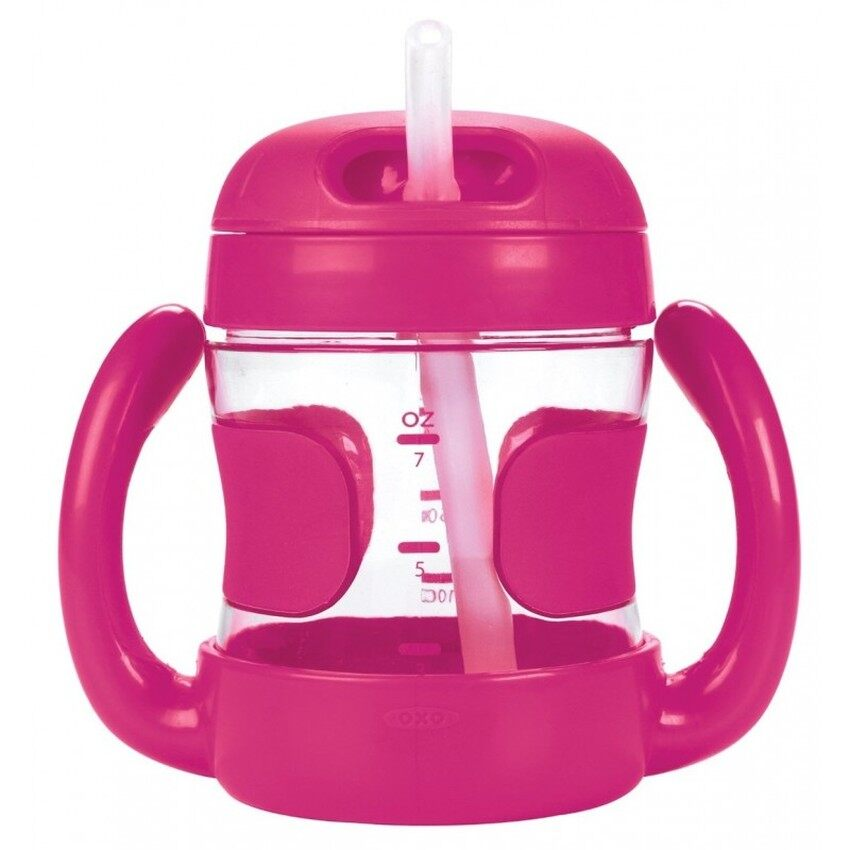 OXO Tot Straw Cup with Handles (7 oz.) Pink